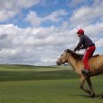 やっぱりツォクトさんの家から馬で平原を駆けるのは気持ちいい