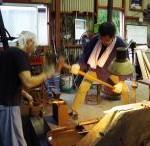 鍛冶を学ぶ旅 5日目 古式鍛造コース二日目